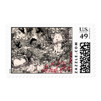 Aesop The Wolf and the Lamb Fable Abstract Postage
