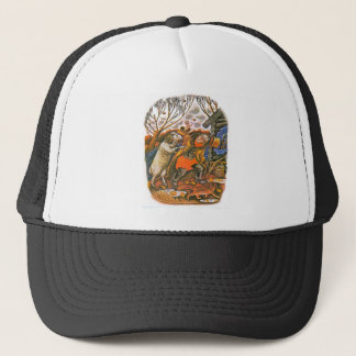 Aesop's fables illustrations trucker hat