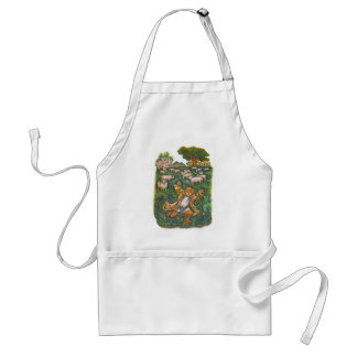 Aesop's fables, the boy who cried wolf adult apron