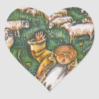 Aesop's fables, the boy who cried wolf heart sticker