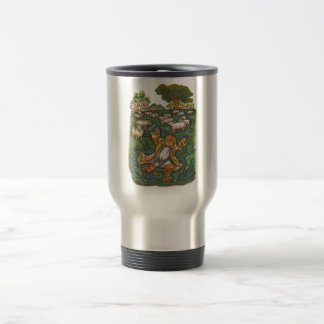 Aesop's fables, the boy who cried wolf travel mug