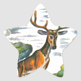 Aesop's fables, the deer and his reflection star sticker