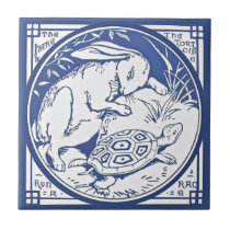 Aesop's Hare & Tortoise Race Repro Minton TIle