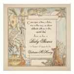 Aesop's Storybook Baby Shower Invitations
