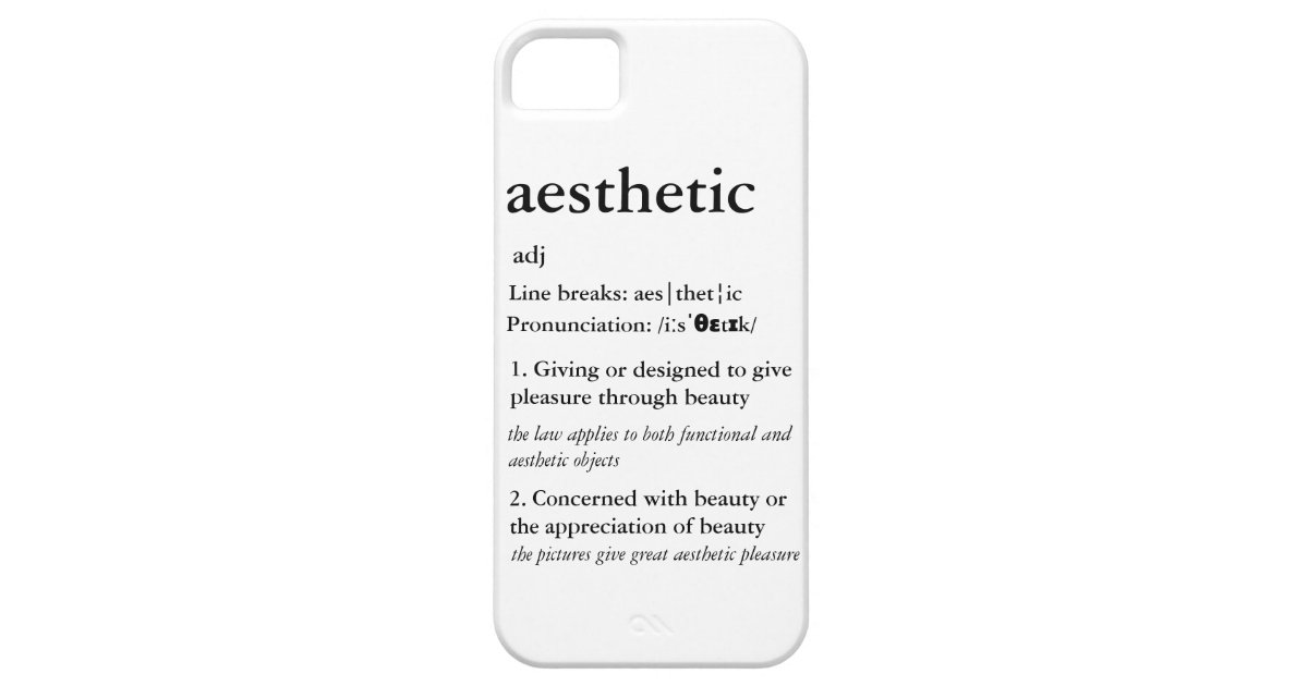 newest collection 88e96 4d9a1 Aesthetic Definition Case-Mate iPhone Case | Zazzle.com