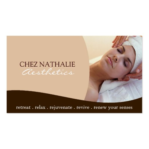 Aesthetician business card business card templates bizcardstudio aesthetician business card reheart Images