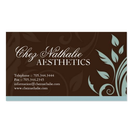Aesthetician business card Business Card Templates