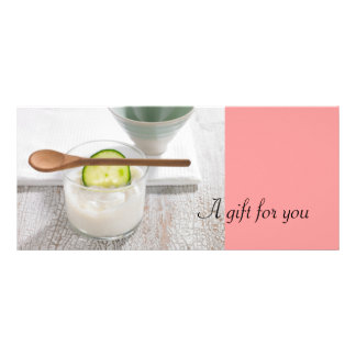 Aesthetician or Day Spa Gift Certificates Custom Rack Card