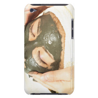 Aesthetician Who Rubs Mud Pack on Womans Face, Barely There iPod Cover