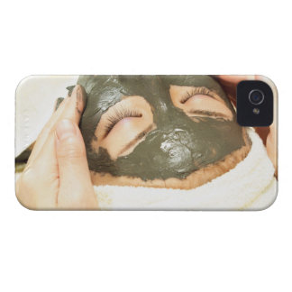 Aesthetician Who Rubs Mud Pack on Womans Face, iPhone 4 Cover