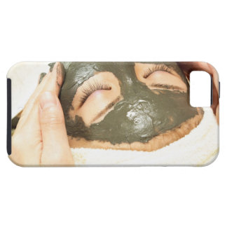 Aesthetician Who Rubs Mud Pack on Womans Face, iPhone SE/5/5s Case