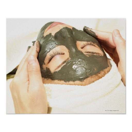 Aesthetician Who Rubs Mud Pack on Womans Face, Posters