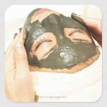 Aesthetician Who Rubs Mud Pack on Womans Face, Stickers