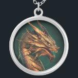 "&quot;Aeternum&quot; Dragon of Requiem Silver Plated Necklace<br><div class=""desc"">Wear a dragon of Requiem around your neck! This pendant features King Aeternum,  founder of Requiem.</div>"