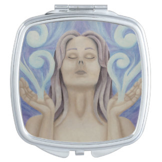 Aether Goddess Manifesting Compact Mirror