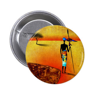 af039 Africa retro vintage style gifts Pinback Buttons