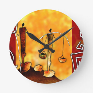af041 Africa retro vintage style gifts Round Clock