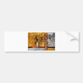 af042 Africa retro vintage style gifts Bumper Sticker