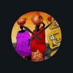 """af047 Africa retro vintage style gifts Round Clock<br><div class=""""desc"""">art image</div>"""