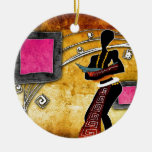 af058 Africa retro vintage style gifts Christmas Ornament