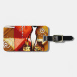 af070 Africa retro vintage style gifts Tags For Luggage