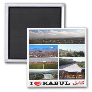 AF - Afghanistan - Kabul - I Love - Collage Mosaic 2 Inch Square Magnet