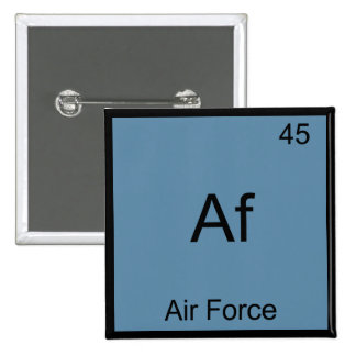 Af - Air Force Military Chemistry Element Symbol Buttons