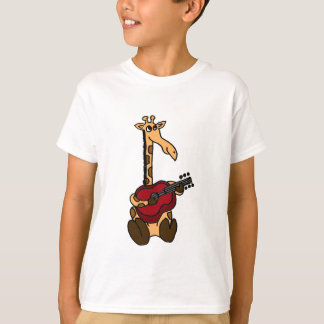 AF- Awesome Giraffe Playing Guitar T-Shirt