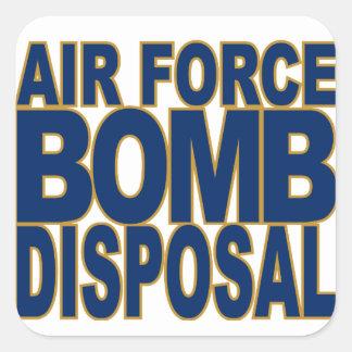 AF Bomb Disposal Square Sticker