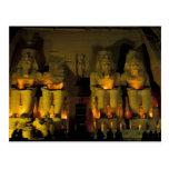 AF, Egipto, Abu Simbel. Figuras colosales de Postal
