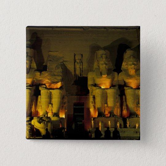 AF, Egypt, Abu Simbel. Colossal Figures of Pinback Button