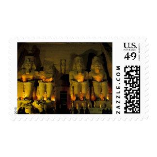 AF, Egypt, Abu Simbel. Colossal Figures of Postage Stamps