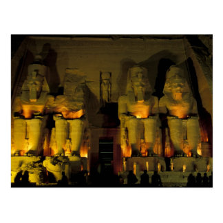 AF, Egypt, Abu Simbel. Colossal Figures of Postcard