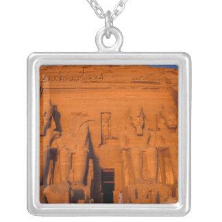 AF, Egypt, Abu Simbel. Facade at sunset, Great Square Pendant Necklace