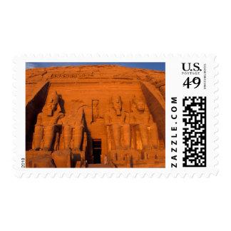 AF, Egypt, Abu Simbel. Facade at sunset, Great Postage