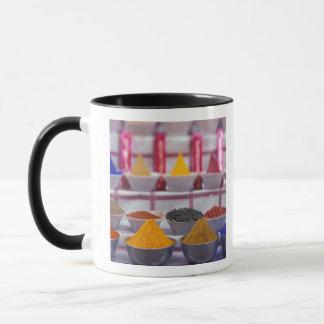 AF, Egypt, Aswan, Colorful spices in market. Mug