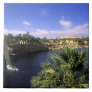 AF, Egypt, Upper Egypt, Aswan. River Nile, Tile