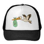 AF- Funny Stork Carrying Baby Hat