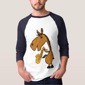 AF- Horse with a Saxophone Cartoon Shirt