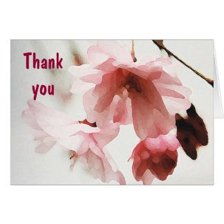 AF- Pink Cherry Blossom Thank you Cards