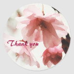 AF- Pink Cherry Blossom Thank you stickers