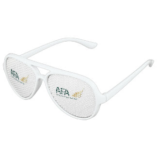 AFA Adult Aviator Party Shades, White Aviator Sunglasses