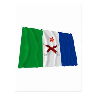 Afar Waving Flag Postcard
