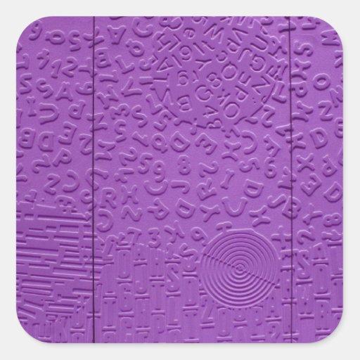 Afasia en púrpura pegatina cuadrada