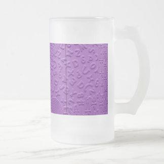 Afasia en púrpura taza cristal mate