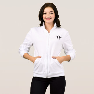 AFB White Zip Jogger Jacket
