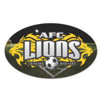 AFC Lions oval decal Oval Sticker