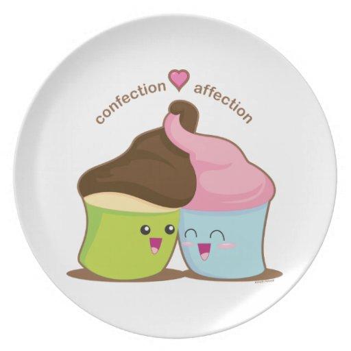 Afecto de los dulces platos