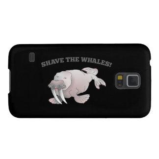 AFEITADO de la morsa las BALLENAS Carcasa De Galaxy S5