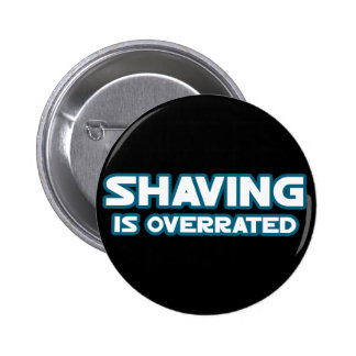 Afeitando se sobrestima, crecen un bigote pin redondo 5 cm